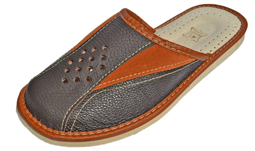 Aarhus Men's Indoor non slip house Leather Slippers - Reindeer Leather