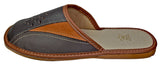 Aarhus Men's Leather Slippers Indoor House Sliders