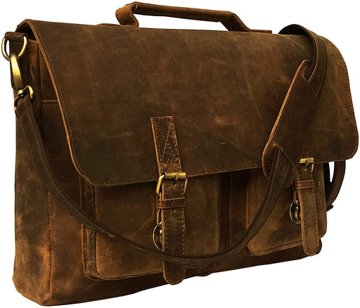 Beaver Buffalo Hunter Shoulder Laptop Bag - Reindeerleather1