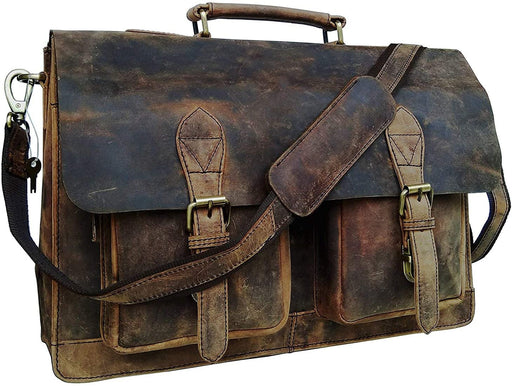 Hick Retro Unisex Leather Messenger Bag1