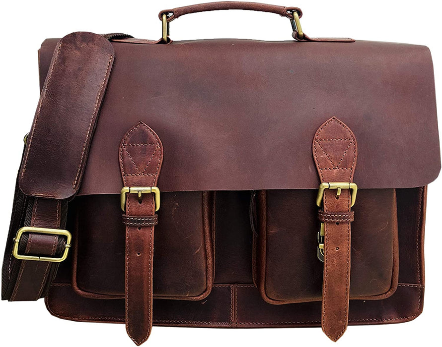 Delius mens messnger leather bag - Reindeer Leather