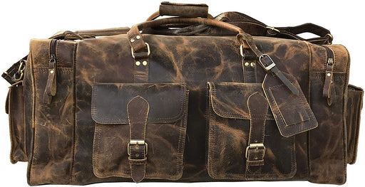 Barak Handmade leather Duffle Bag - Reindeerleather1