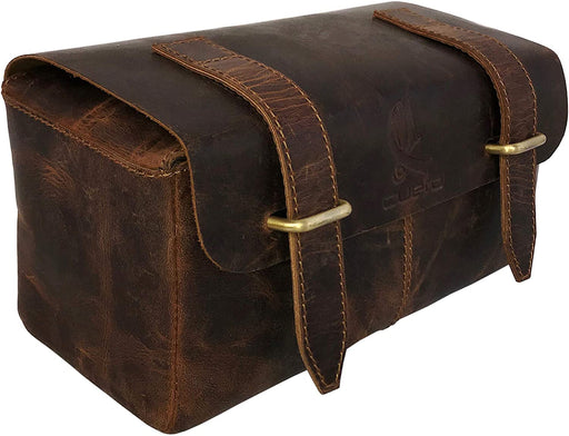 Bevan Buffalo leather Unisex Dopp Kit - Reindeerleather1