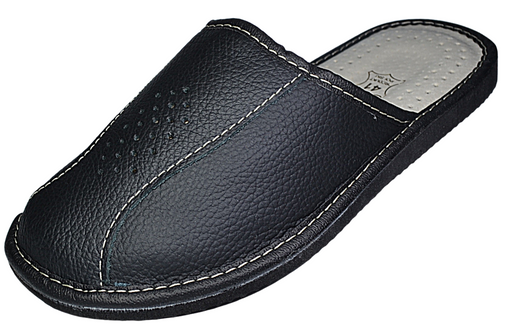 Faith Odor-Resistant black slippers- Reindeerleather2