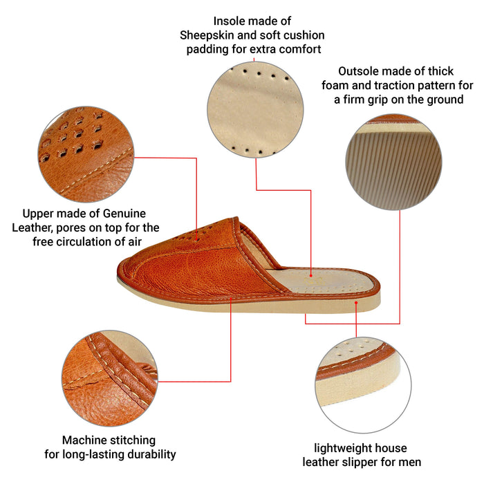 Hadley | infographic mens slippers - Reindeerleather2