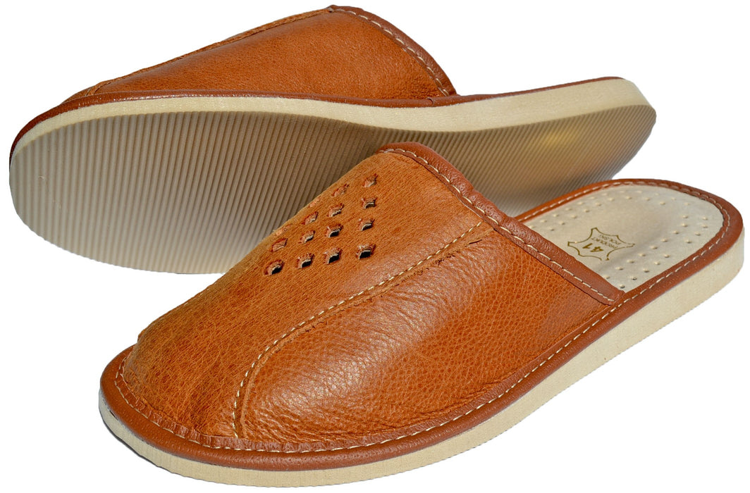 Hadley Leather Indoor Slip-On For Men - Reindeerleather4
