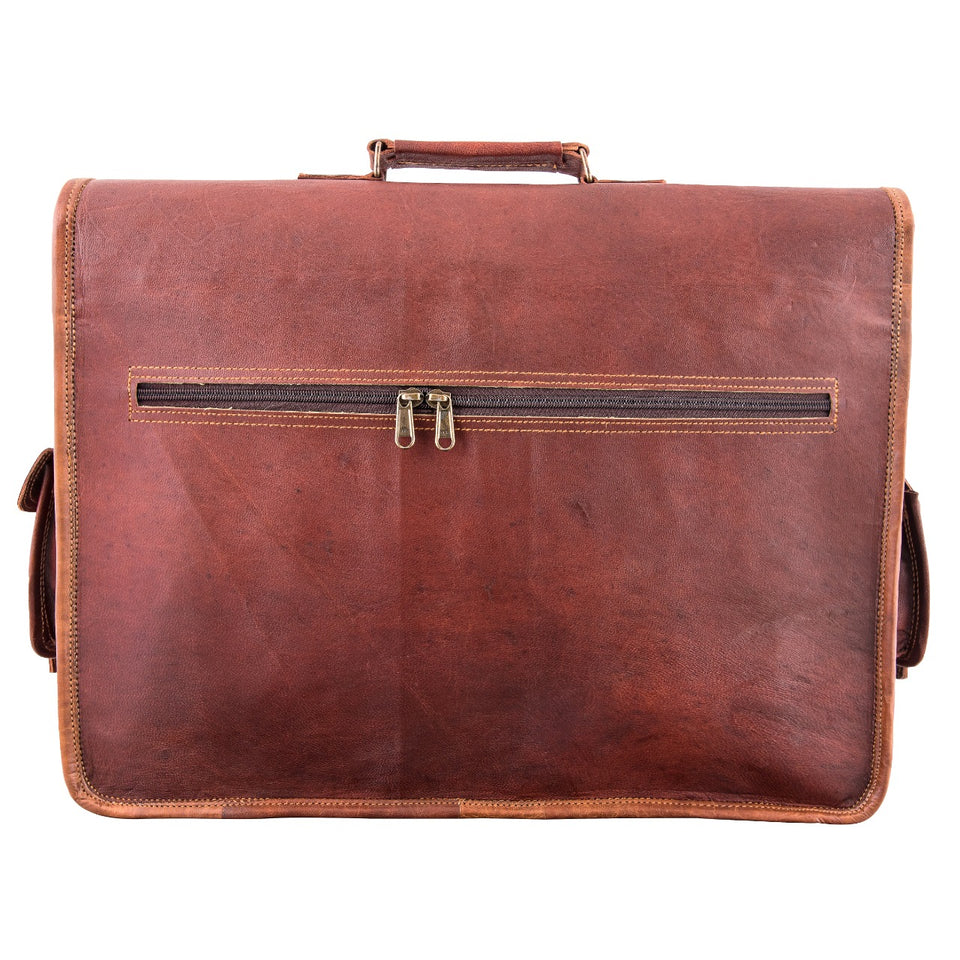 Jerry Antique Leather Laptop Messenger Bag for Laptop 16 Inch