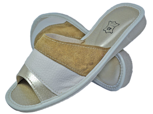 Ivory | summer slippers for women - Reindeerleather1