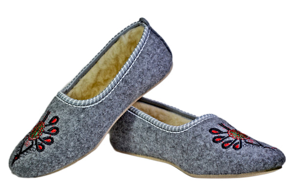 Amelia Cozy Felt Winter Shoes - Reindeer Leather