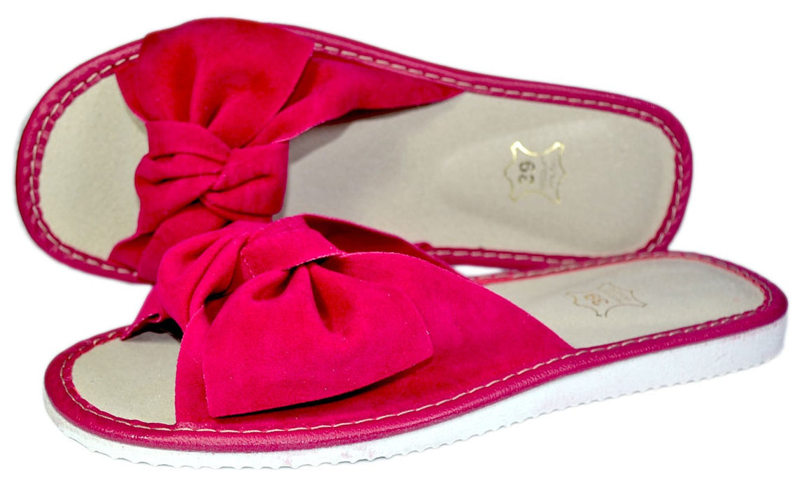 Demi women open toe slippers- Reindeerleather5