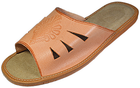Topher Mens Cowhide Open Toe Slide