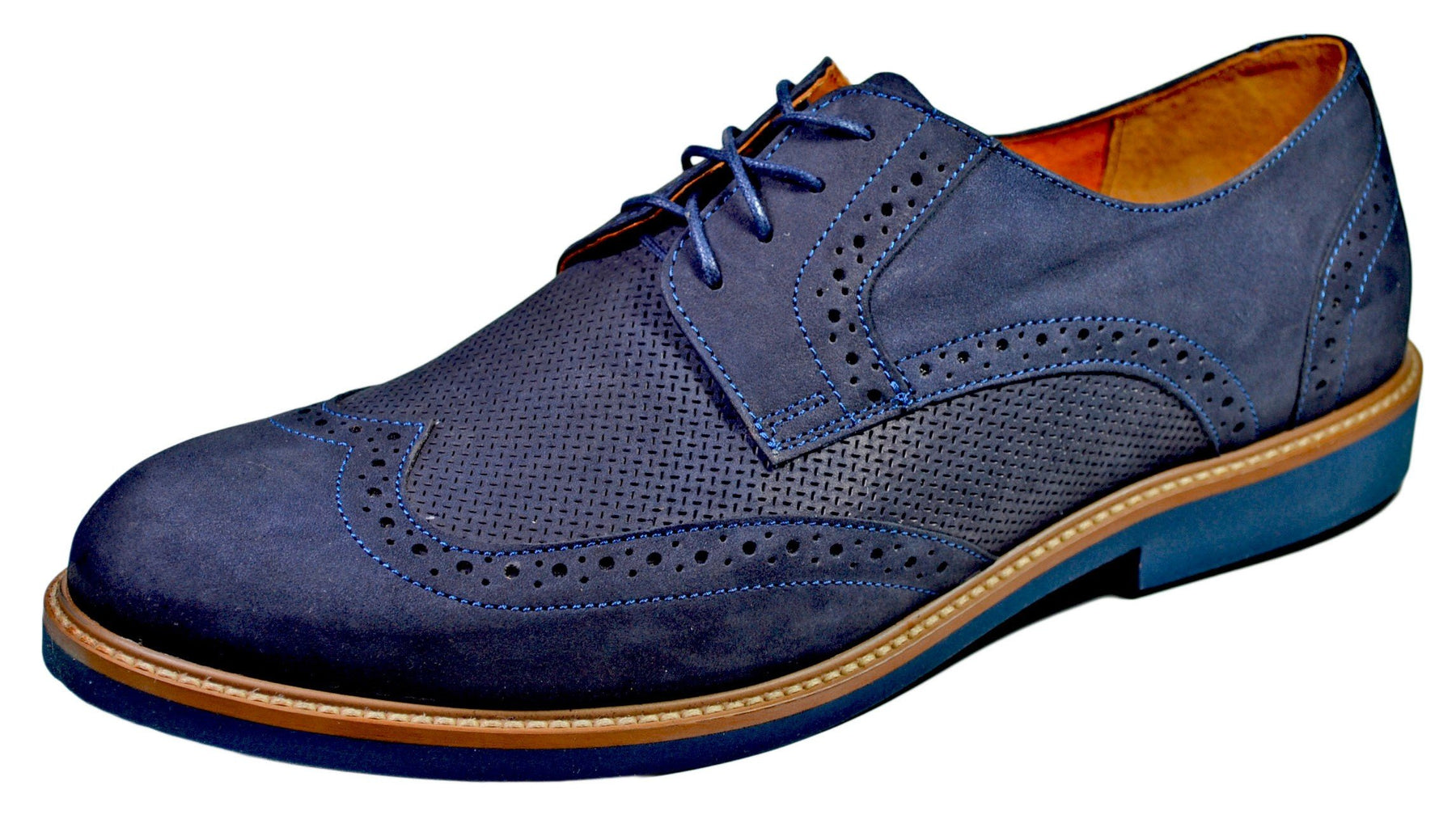AGDA Men's Oxford Casual Brogue Casual Shoes - Reindeer Leather1
