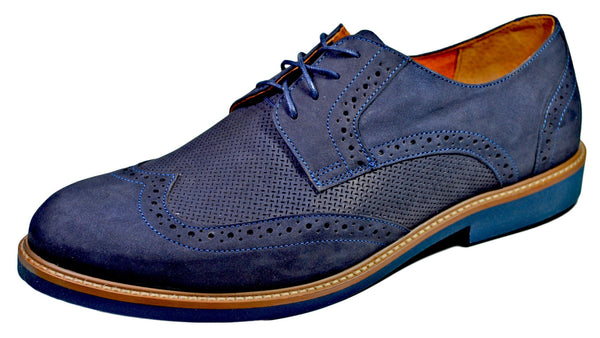 AGDA Men's Oxford Casual Brogue Casual Shoes - Reindeer Leather
