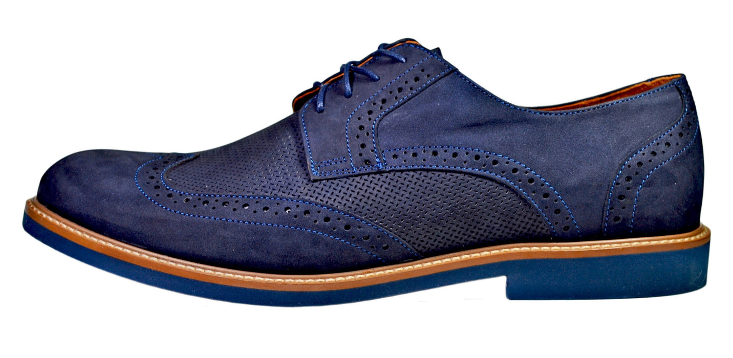 AGDA Men's Oxford Casual Brogue Casual Shoes - Reindeer Leather4