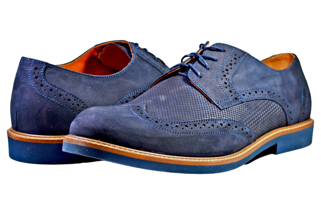 AGDA Men's Oxford Casual Brogue Casual Shoes - Reindeer Leather3