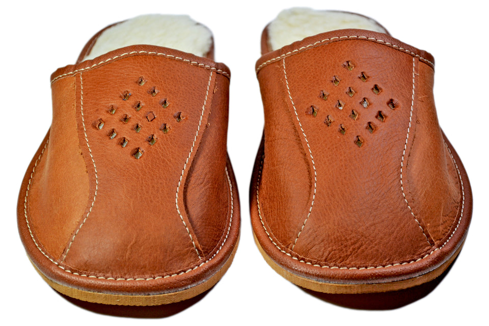 Tasman Indoor Winter Scuffs - Reindeer Leather