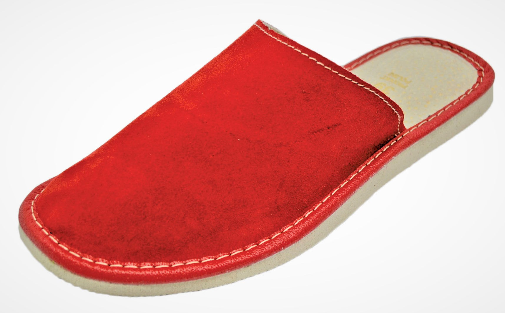 Ceries Womens Red Slippers I Suede Scuffs Reindeer Leather Reindeer Leather