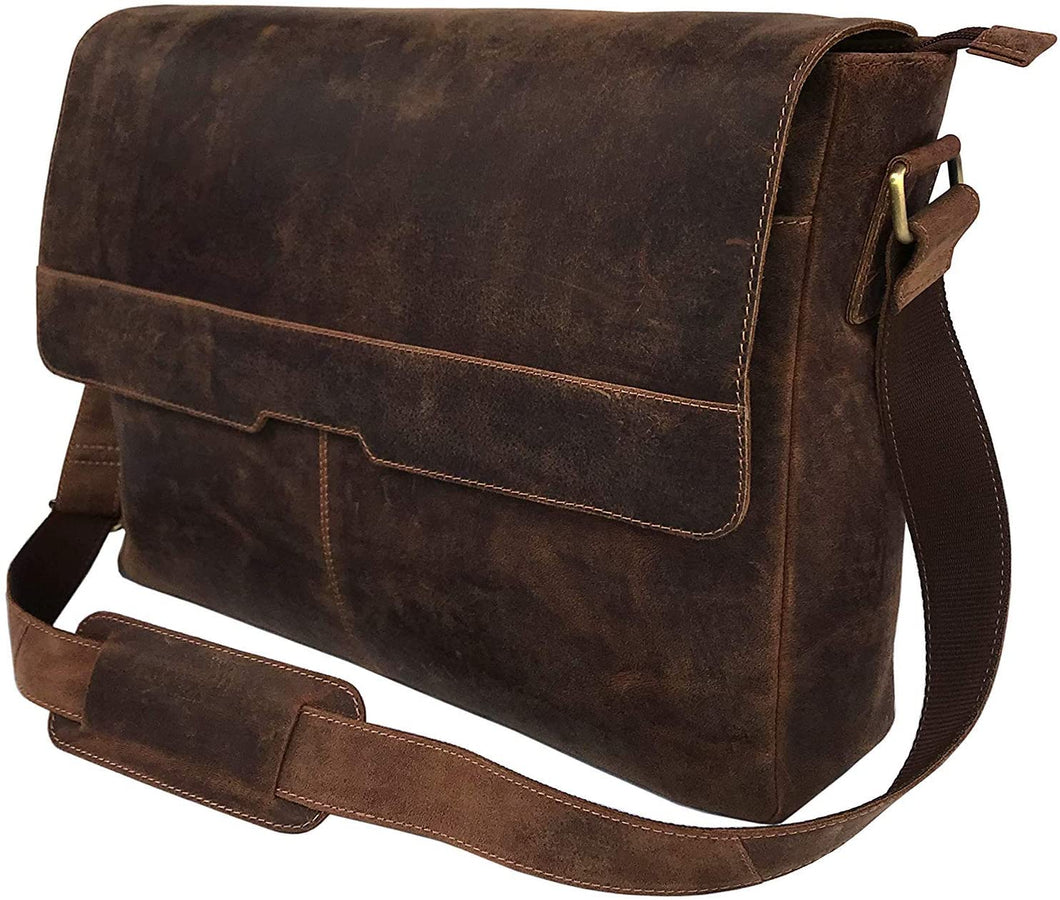 Aiden Unisex Vintage Leather Shoulder Bag 18