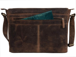 Aiden Unisex Vintage Leather Shoulder Bag 18""