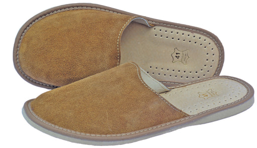 Loreto Suede mens scuff slippers - Reindeerleather1