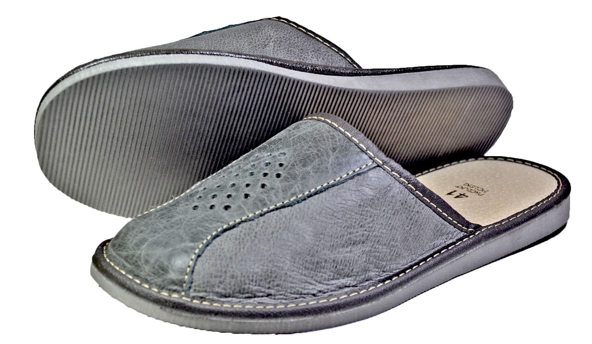 George - most comfortable mens slippers- Reindeer Leather6