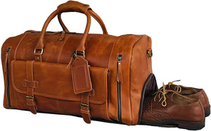 Alec Leather Gym Sports Travel Duffle Bag