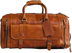 Alec Gym Sports Travel Leather Duffle Bag