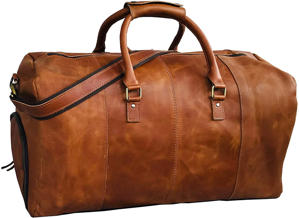 Alec Leather Duffle Bag - Reindeer Leather3