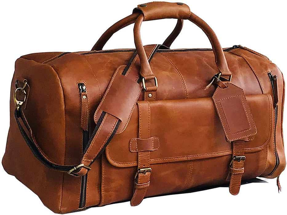 Alec Leather Duffle Bag - Reindeer Leather4