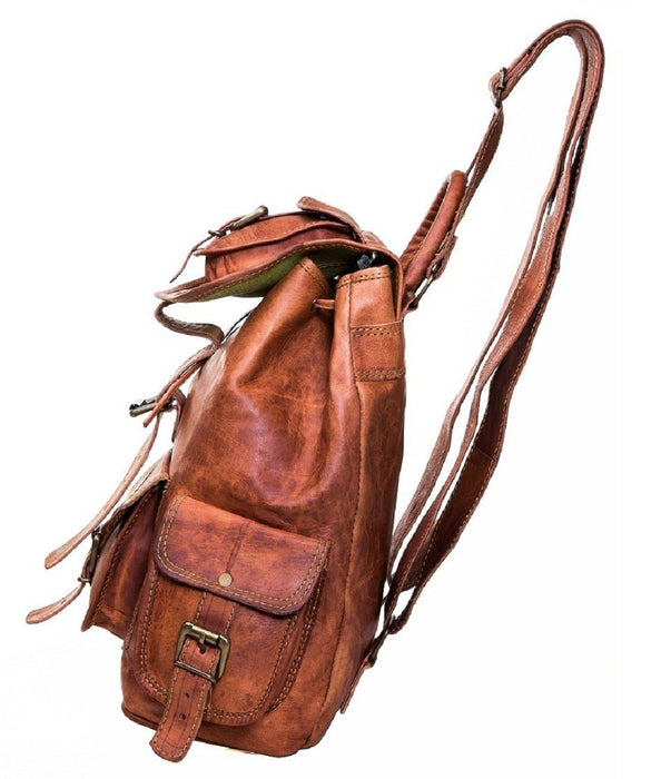 Vintage handmade leather backpack - Reindeer Leather2