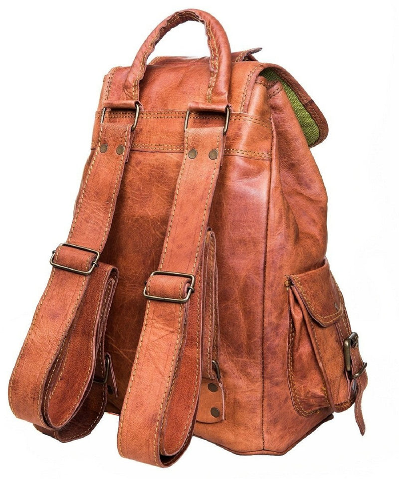 Vintage Genuine Goat Leather Handmade Bag-pack