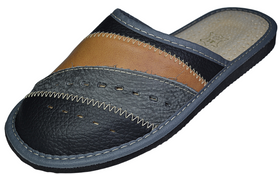 Cooper Traditional Mens Leather Slip on Slippers