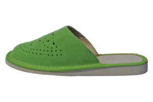 Emerald Polish Handmade Leather Slippers For Women