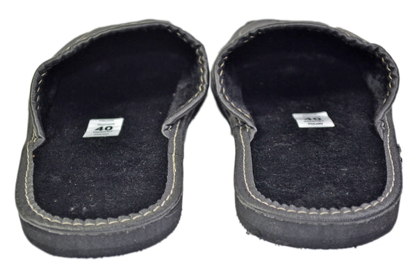 Charles Black Indoor Leather Winter Slip-on - Reindeer Leather