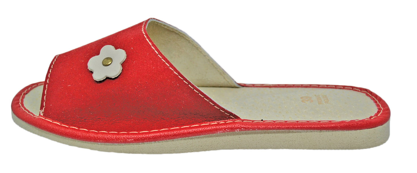 Scarlet Suede house womens red slippers - Reindeer Leather2