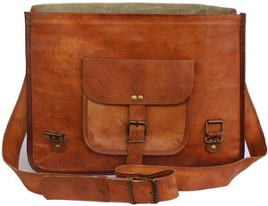 Handmade Unisex Boho Leather Messenger distressed Bag