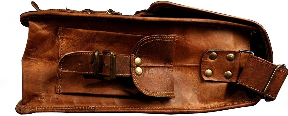 Handmade Unisex Boho Leather Messenger Bag