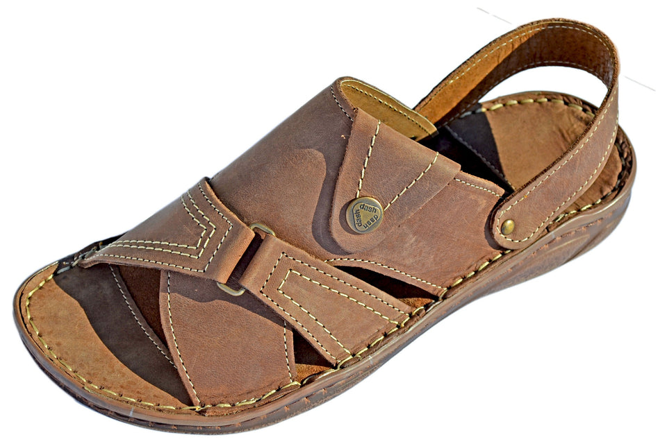 Dash Beach Leather Summer Sandal Slide - Reindeer Leather