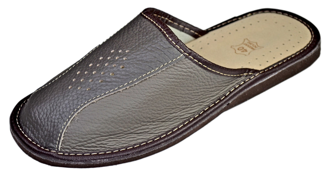 Henry | mens hardsole slippers- Reindeer Leather