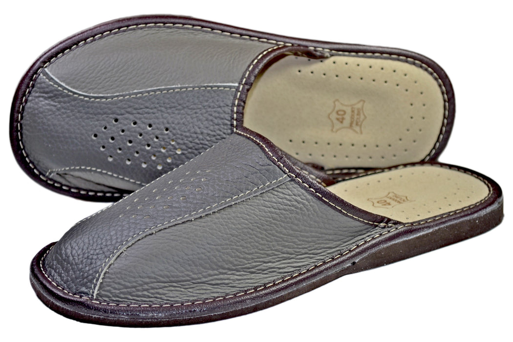 Henry | handmade house slippers for men- Reindeer Leather