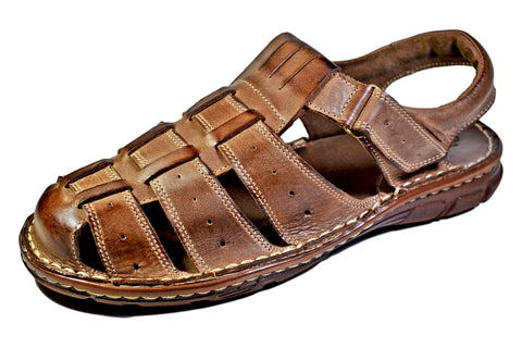 Joker Gladiator Genuine Buffalo Leather Fisherman Summer Sandal - Reindeer Leather