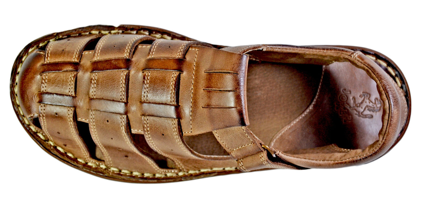 Joker | mens brown leather sandals - Reindeer Leather3