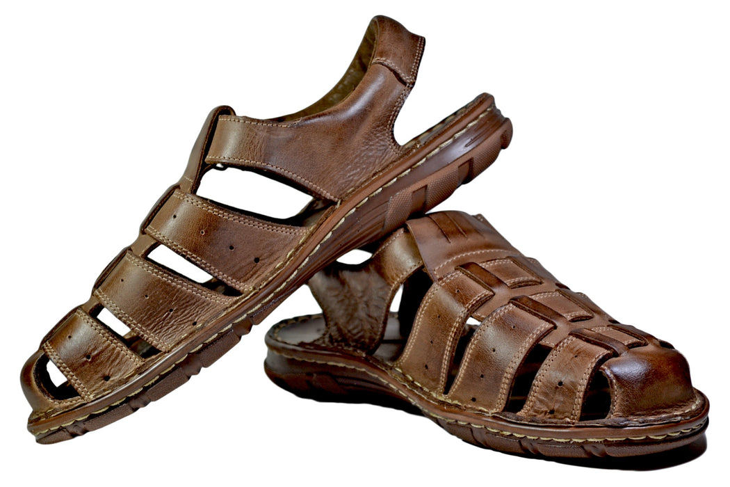 Joker | mens brown leather sandals - Reindeer Leather7
