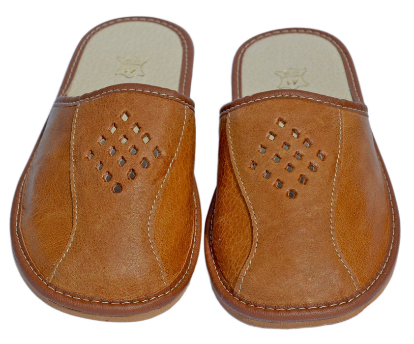 Hadley Leather Indoor Slip-On For Men - Reindeerleather7