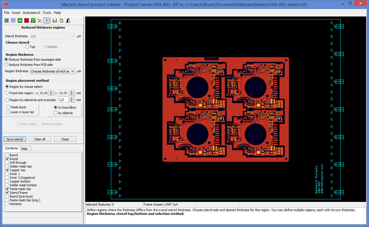Define a solder paste stencil for your PCB