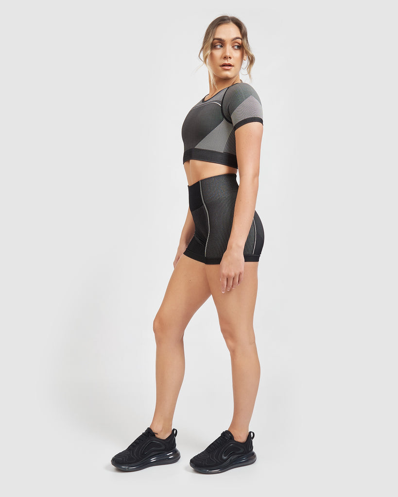 Core Trainer Lulu Shorts Charcoal