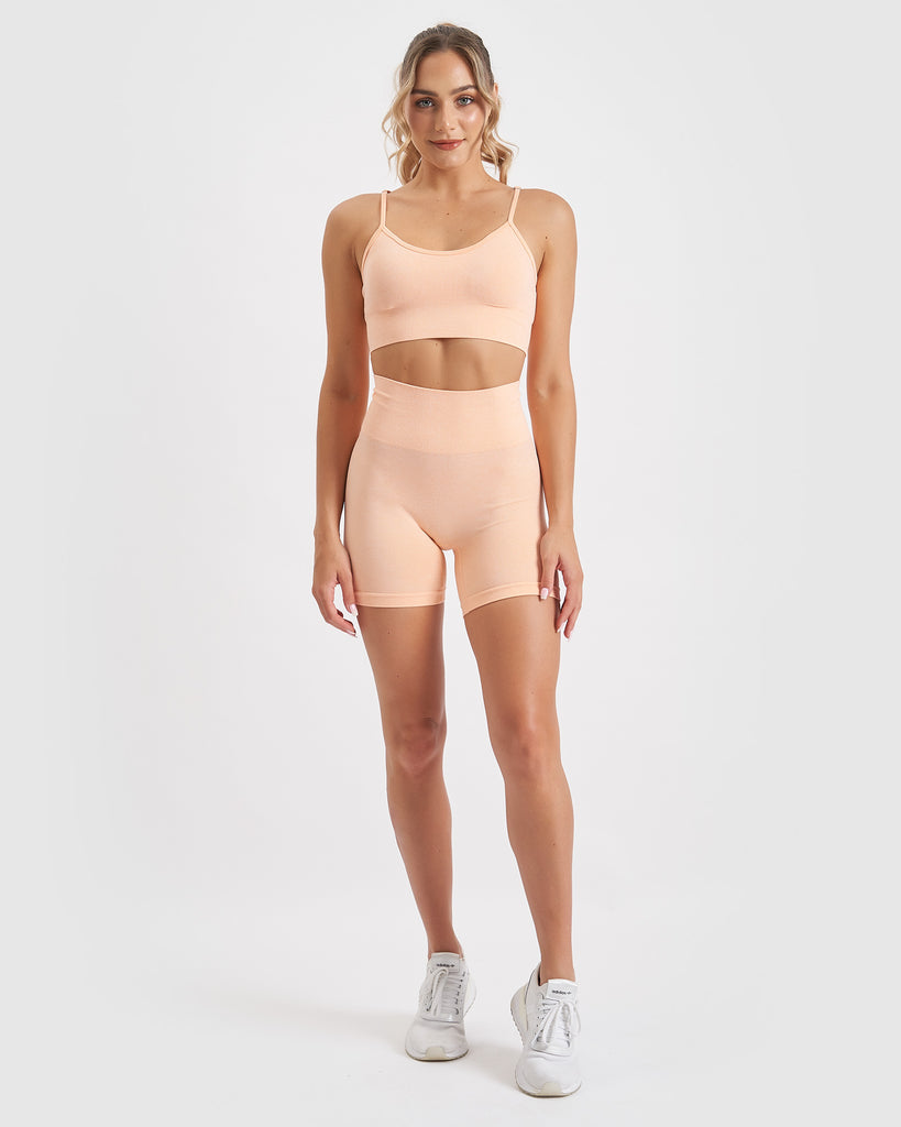 Core Trainer Charlie Active Bike Shorts Peach