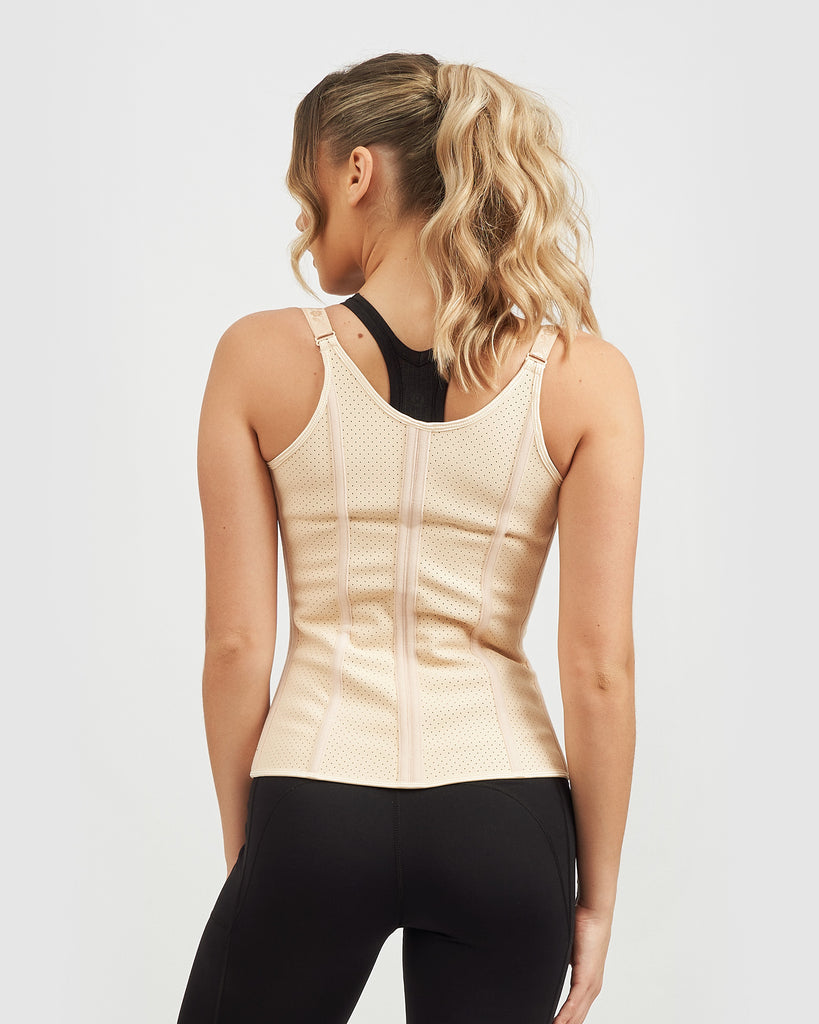 Core Trainer Breathable Vest With Adjustable Straps Nude