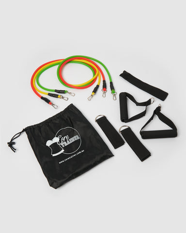 Core Trainer 3 Pack Fabric Resistance Bands Multi