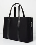 Miz Casa & Co Tabitha Neoprene Tote Bag Black